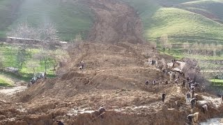Terrible Landslide in the Mountains of Dagestan!