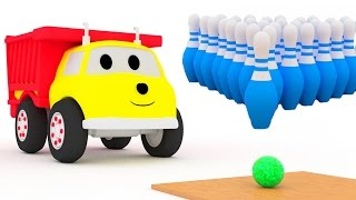 Play bowling and learn colors with Ethan the dump truck | Educational cartoon for children