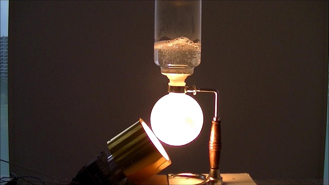 咖啡虹吸管的加熱 【非接觸・高溫加熱 熱科技有限公司】 - YouTube