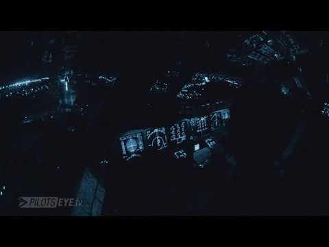 Pilotseye.tv - Lufthansa Cargo MD-11 Dakar Night Time Approach [English Subtitles]