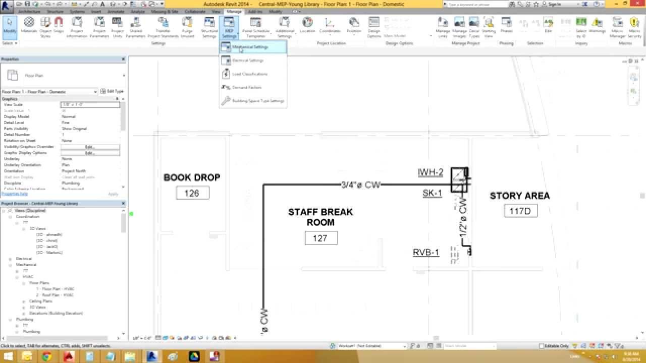 Revit How To Remove The Pipe Size Diameter Symbol Youtube