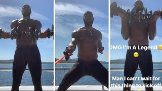 LeBron James Lifts Weights On His Yacht With Maverick Carter #Lakers #LeBron #ESPN