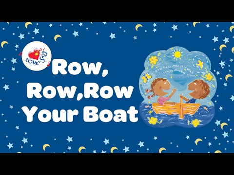 Row Row Row Your Boat Lyrics | Nursery Rhymes | Children Love to Sing