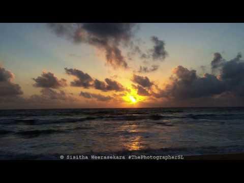 Sunset Time Lapse at Galle Face Beach Colombo Sri Lanka