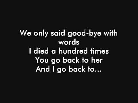Back To Black AMY WINEHOUSE Lyrics