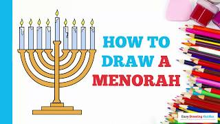 How to Draw a Menorah in a Few Easy Steps: Drawing Tutorial for Kids and Beginners