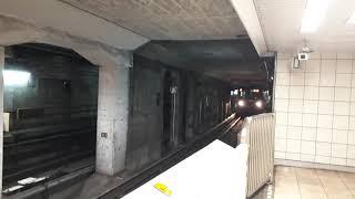 なんとなく電車:東京メトロ中野富士見町駅:丸ノ内線方南町行き3輌編成発車&池袋行き6輌編成到着光景20210506_131049