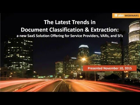 Document Classification and Unstructured Data Extraction SaaS Solution Offering for BPO and SI's