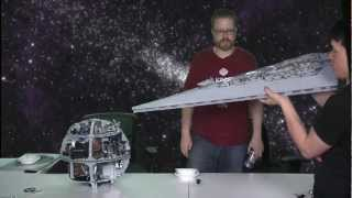 Repeat youtube video LEGO Super Star Destroyer VS. LEGO Death Star