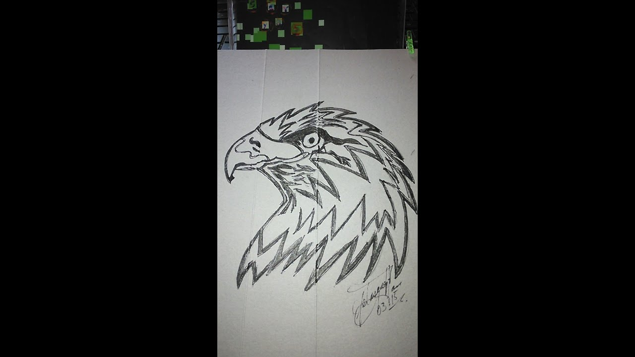 How To Draw An Eagle For Tattoo 1D, Como Dibujar Un águila