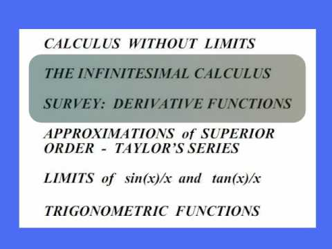 CALCULUS WITHOUT LIMITS - 2 Infinitesimal Calculus