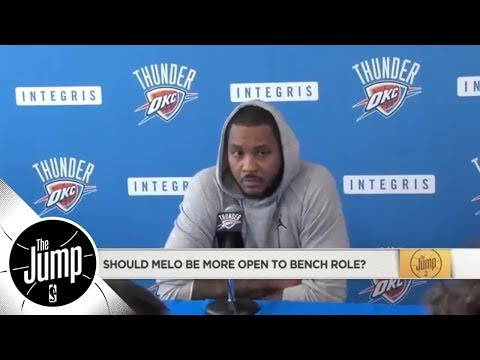 The Jump reacts to Carmelo Anthony's comments on not 'sacrificing a bench role' | The Jump | ESPN