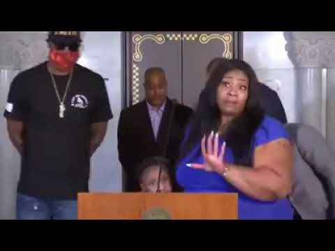 Mom Of George Floyd's Daughter Breaks Down During Live Press Conference. (Emotional)