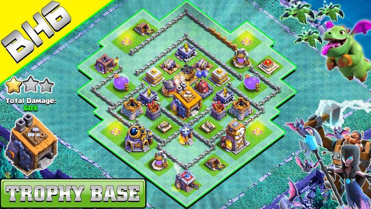 Builder Hall 6 Undefeated Base 8