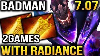 Badman Spectre Radiance Build [2Games] Dota 2 7.07b Dueling Fates