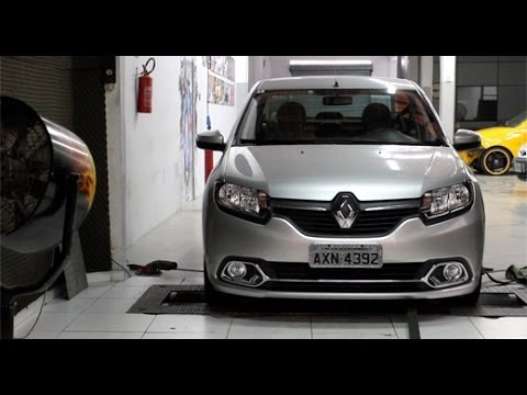 Renault Logan 1.6 2014 no dinamômetro