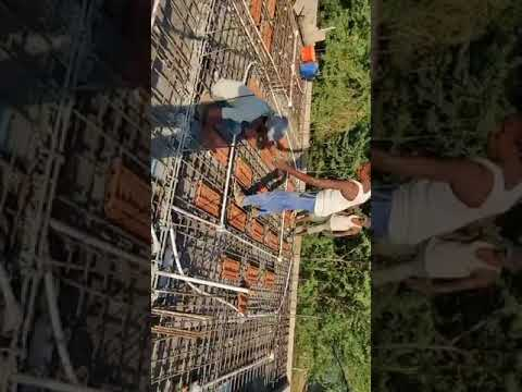 GFRG Building Construction-roof Concreting At Thiruvallur Chennai-Cityrene Builders