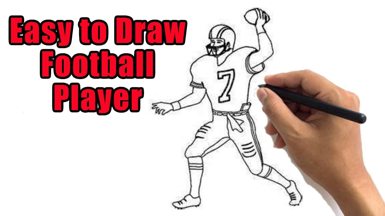 How To Draw An American Football Player Drawing Easy Nfl Player