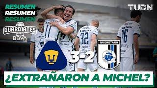 Resumen y goles | Pumas 3-2 Querétaro | Guard1anes 2020 Liga BBVA MX - J1 | TUDN
