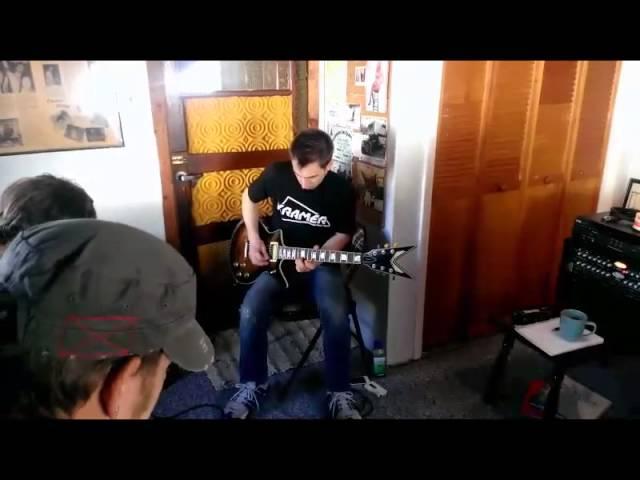 Trent in the studio