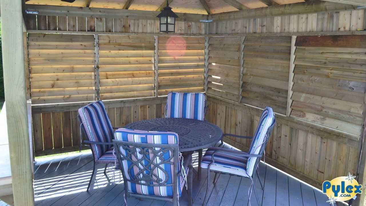 pylex deck store syst me de store pour patio deck sunblind system youtube. Black Bedroom Furniture Sets. Home Design Ideas
