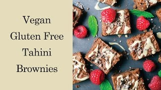 Tahini Brownies - Healthy, Vegan & Gluten-free براونيز