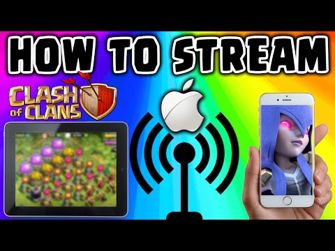 Clash of Clans - HOW TO STREAM iPHONE, iPAD, iPOD GAMEPLAY - No Jailbreak & FREE!