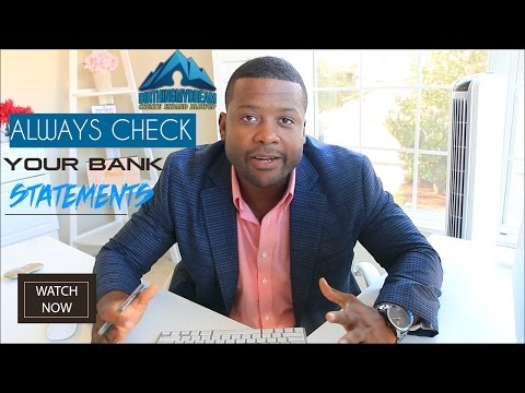 Make Money Online - Why You Should Always Check Your Bank Statement