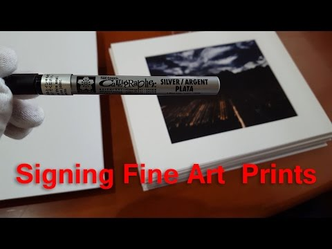 Matting and Signing My First Limited Edition Photograph