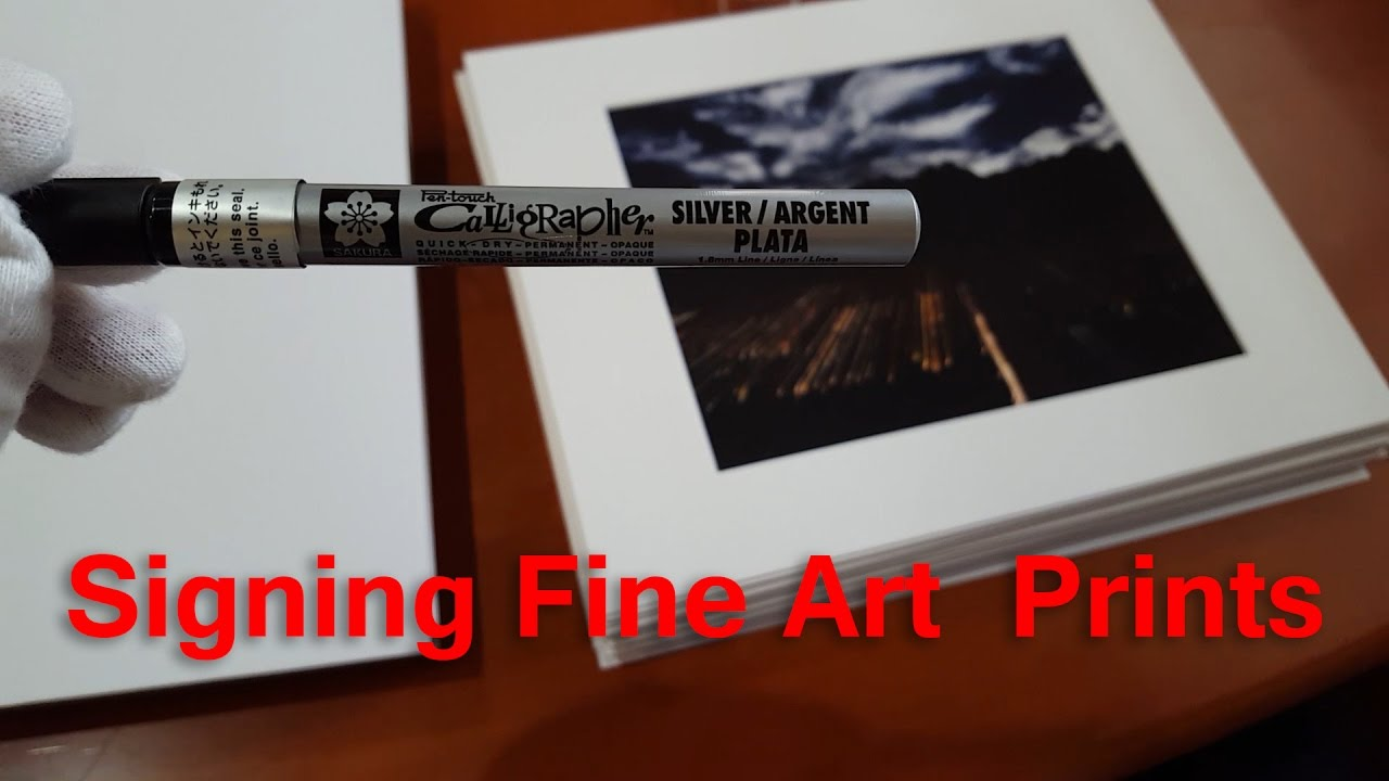 matting and signing my first limited edition photograph youtube