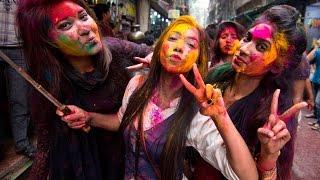 Happy Holi 2017 in Bangladesh (Shakhari Bazar Old Dhaka) Part 02