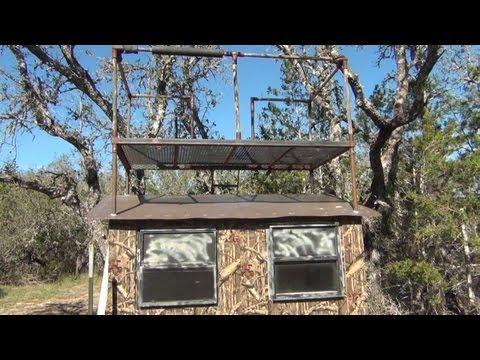 Custom Texas Hunting Blind, Whats In Your Blind? 4/5