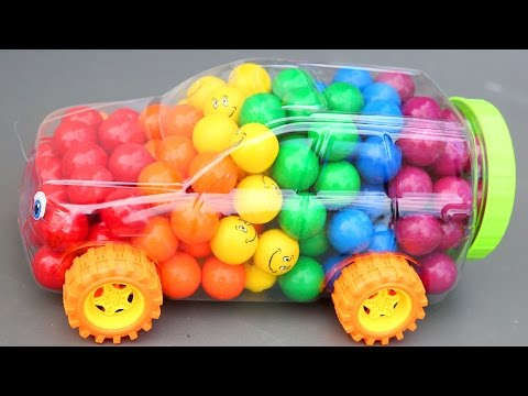 Candy Gumballs Surprise Car Frozen Elsa Trolls Kinder Surprise Egg Paw Patrol Slime Clay Mighty Toys