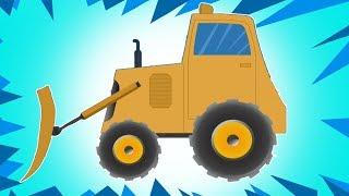 推土机形成和用途  学习车辆  教育视频  卡车为孩子们   Toy Trucks Video   Vehicles For Kids   Bulldozer Formation and Uses