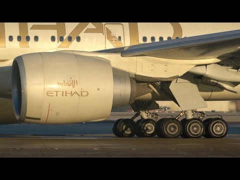 Incredible Sound of World's Largest Commercial Jet Engine GE90 - Close Spool Up - Manchester Airport