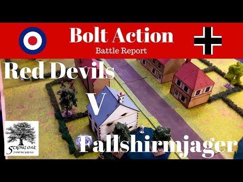 Battle Report - Warlords Invasion Britain Bolt Action Campaign, British Para v German Fallshirmjager