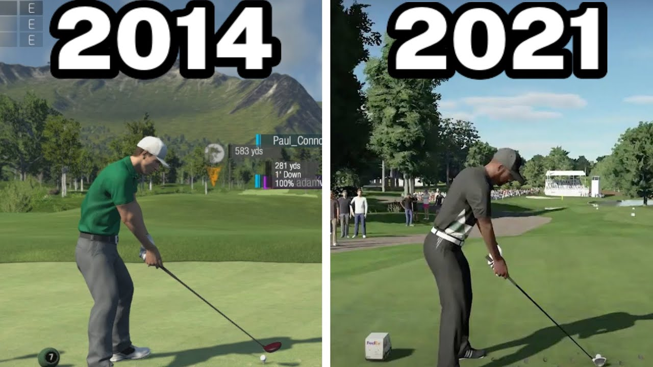 Graphical Evolution of PGA Tour 2K (2014-2021)
