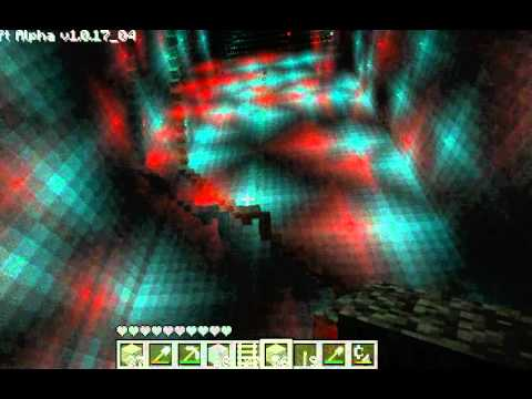 ab5c3e2c36 Minecraft anaglyph 3D (Red-Blue glasses) huge mine - YouTube