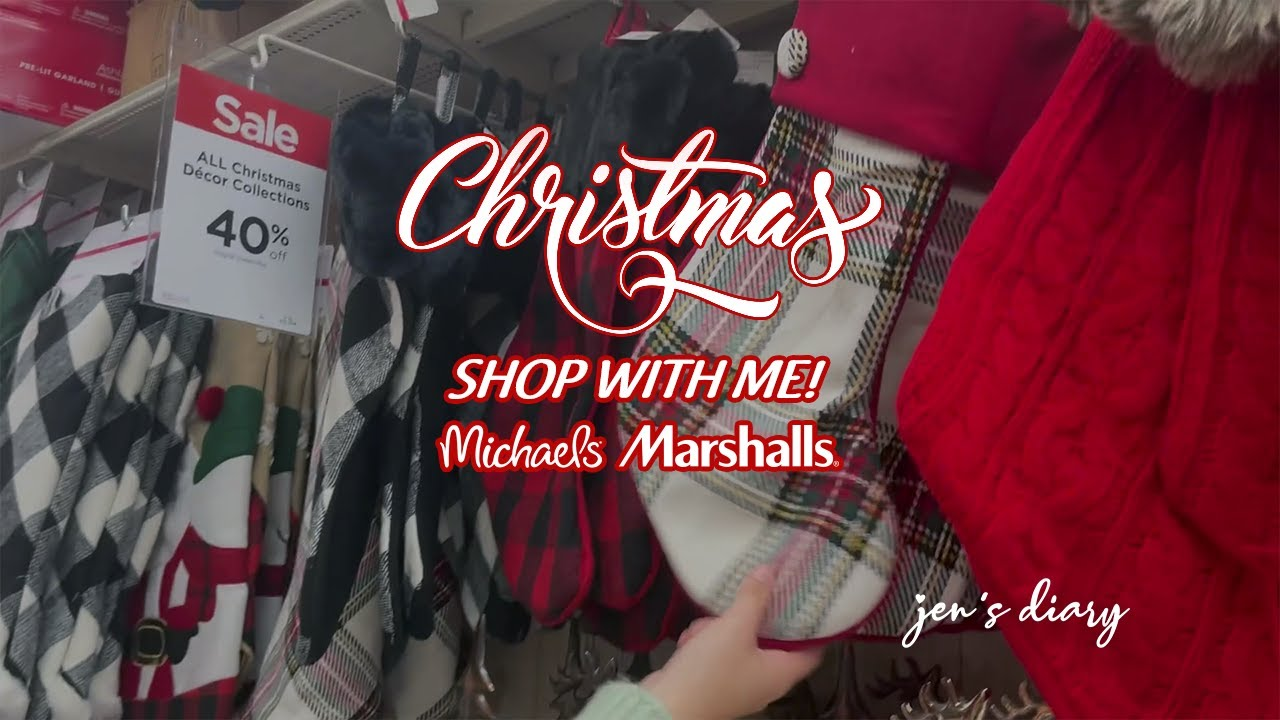 Shop With Me At Marshalls and Michaels #ChristmasShopping