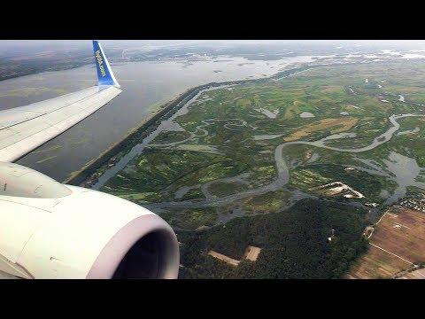 Ukraine Airlines B737 Landing Kiev (+Chernobyl and Pripyat)