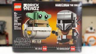 LEGO BrickHeadz Star Wars The Mandalorian /& The Child 75317 Building Kit