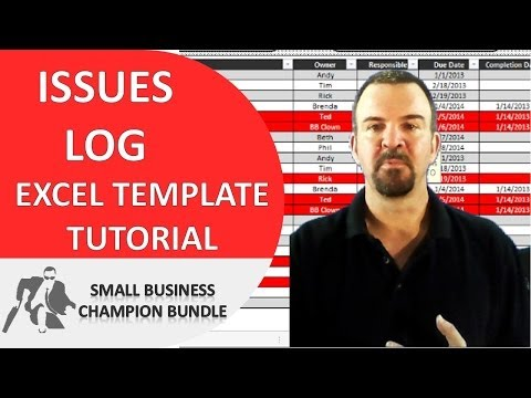 Issues Log Excel Template - Project Management for Small Business