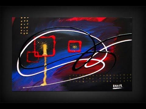 "Abstract Acrylic Painting / Original Art / ""Balance By Roxer Vidal"""