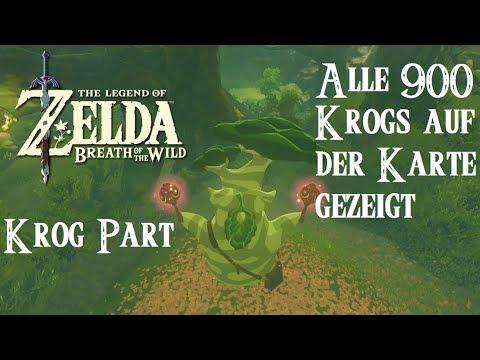 Zelda Krog Karte.Zelda Breath Of The Wild German Alle 900 Krogs Gezeigt