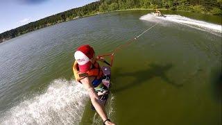 Прокатился на Вейкборде Новосибирск, Бердск | Ride on Wakeboard in Siberia