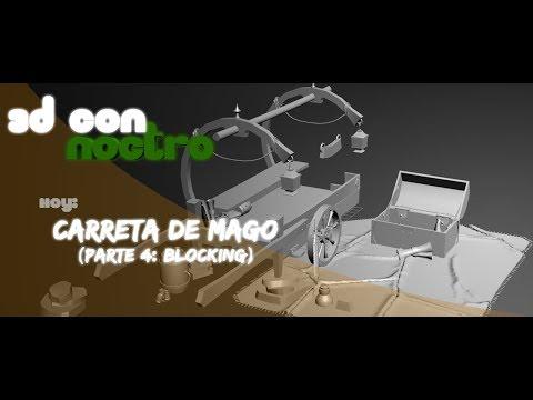 3D Carro y Assets Handpainted (Parte 4: Blocking)