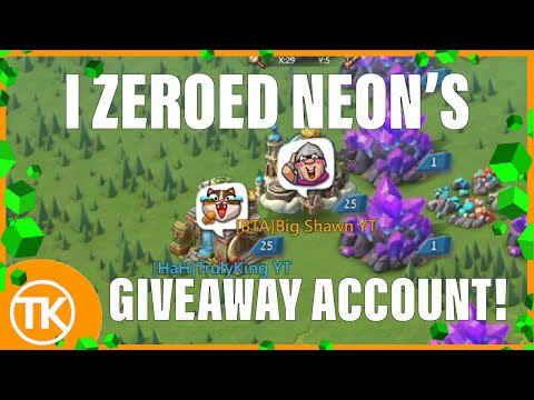 Lords-Mobile | I ZEROED NeoN's GIVEAWAY ACCOUNT! 🔥🔥 (Must See)
