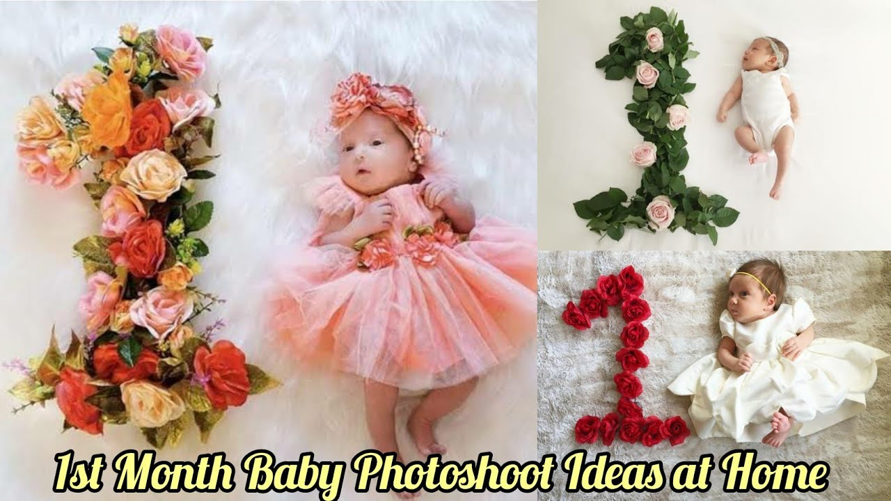 1 Month Baby Photoshoot At Home Monthly Baby Photoshoot Ideas Creative Babyphotoshoot Youtube