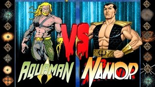 Aquaman (DC Comics) vs Namor (Marvel Comics) - Ultimate Mugen Fight 2016