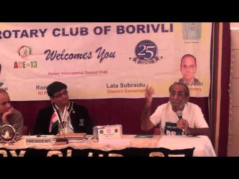 Abid Surti ||  Rotary Club of Borivali